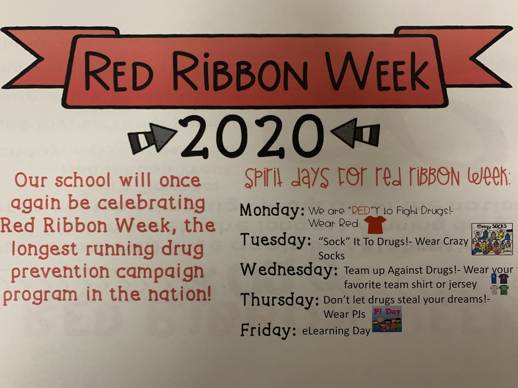 Join us in celebrating Red Ribbon Week, October 26th - 30th!