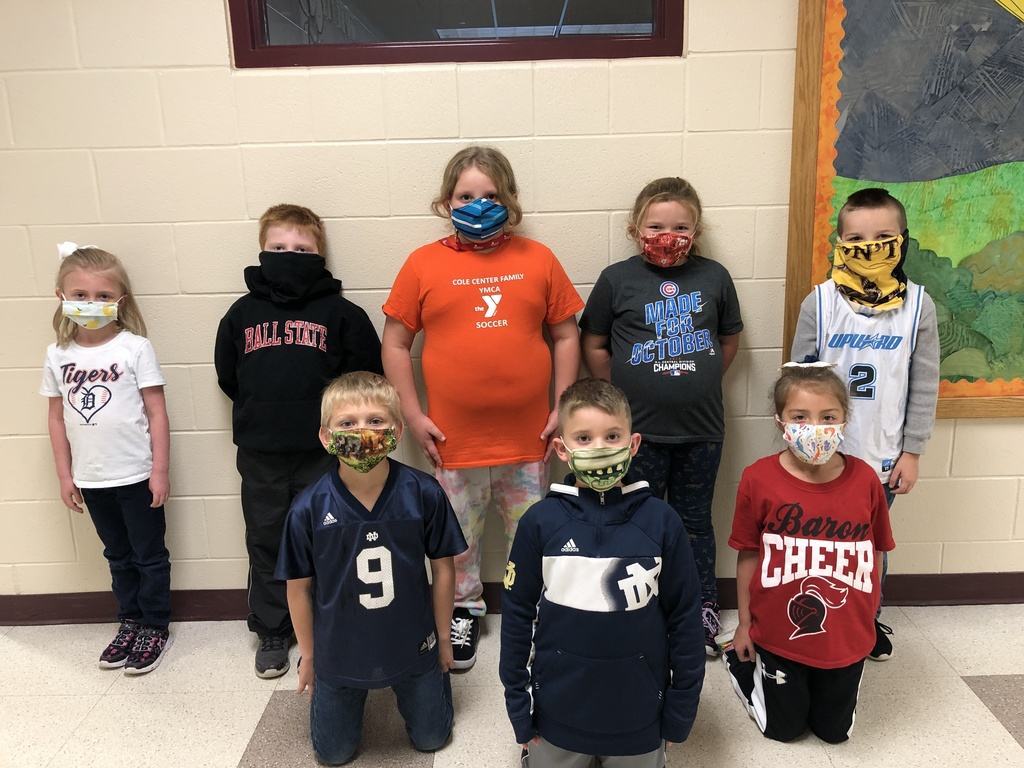 Students wearing jerseys for Red Ribbon Week.