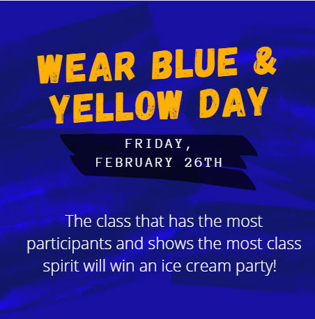 Blue and Yellow Day - February 26th