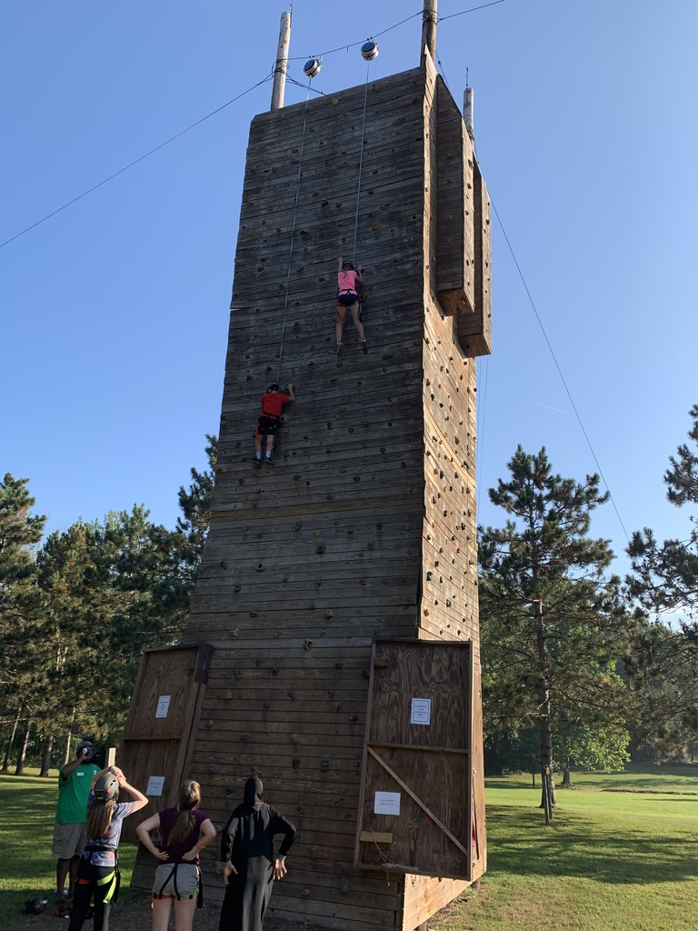 Climbing Wall at Camp Potawatomi.