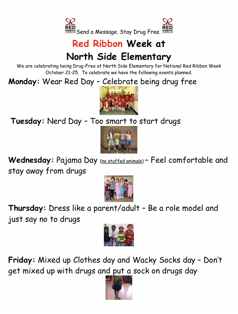 Red Ribbon Week is October 21-25th.