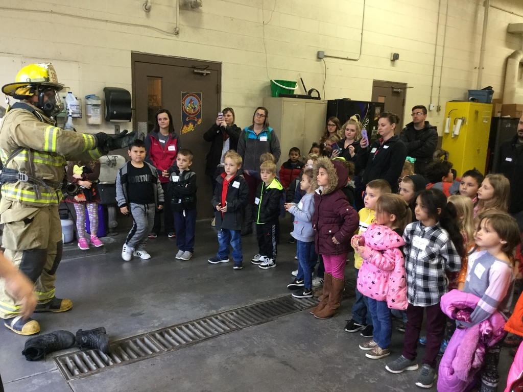 Kindergarten Students at Fire Station