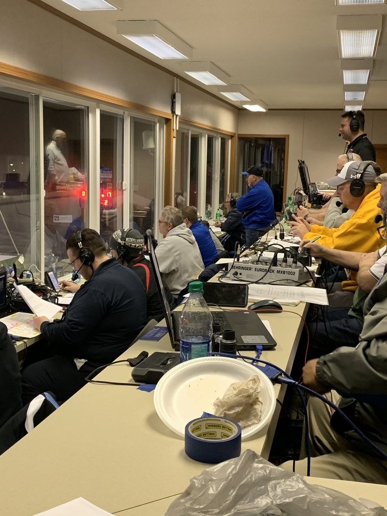 ENSC Pressbox during the Semi-State game