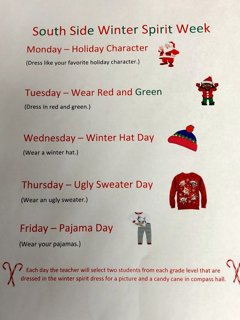 Student Council is hosting a holiday spirit week!