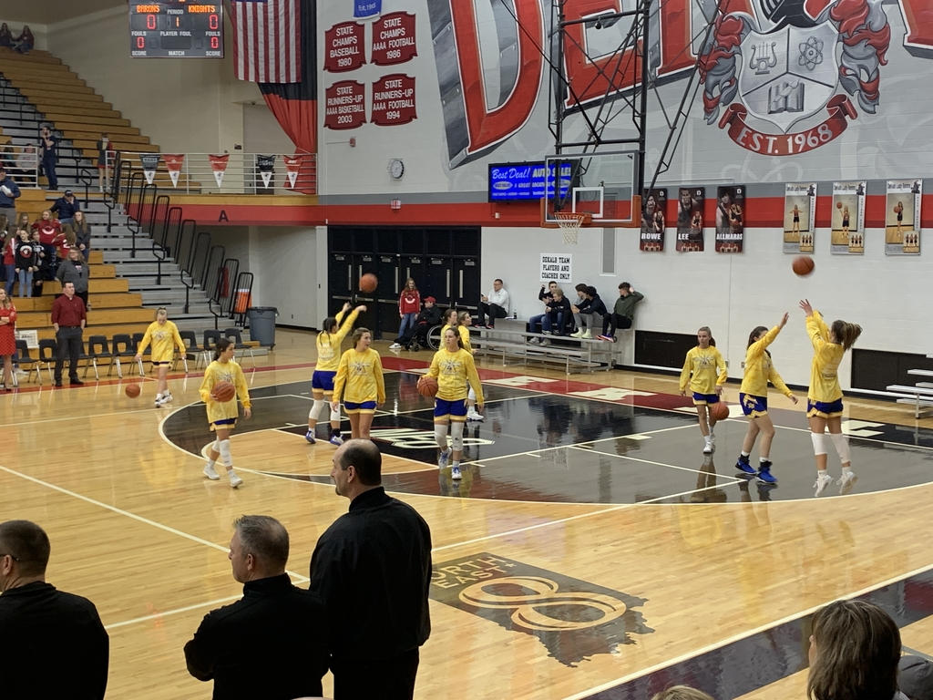 Lady Knights at Dekalb. Do work Knights!
