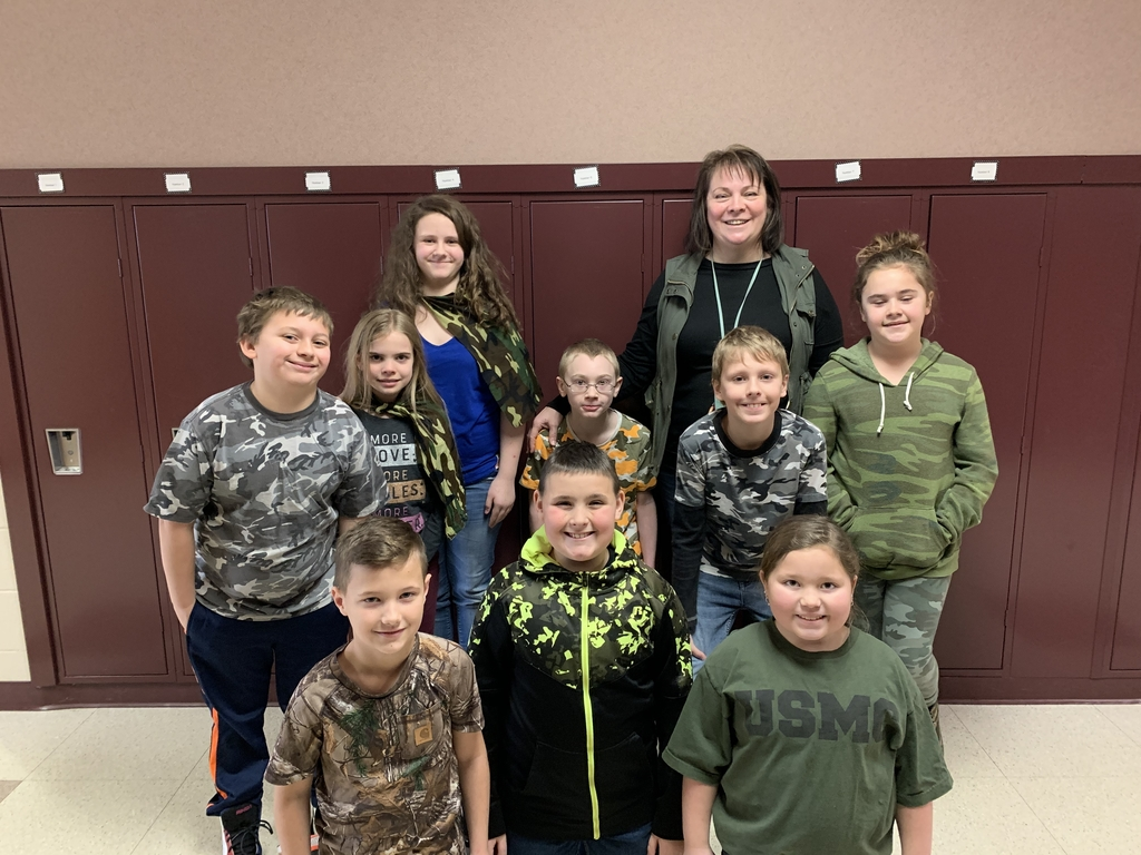 Be a hero, be kind - wear camo day at school.