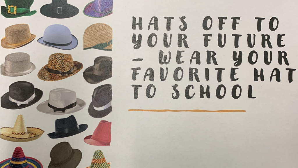 College GO week reminder. Wednesday is hat day