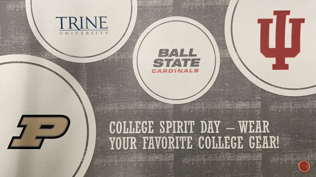 Wear your favorite college gear on Thursday!