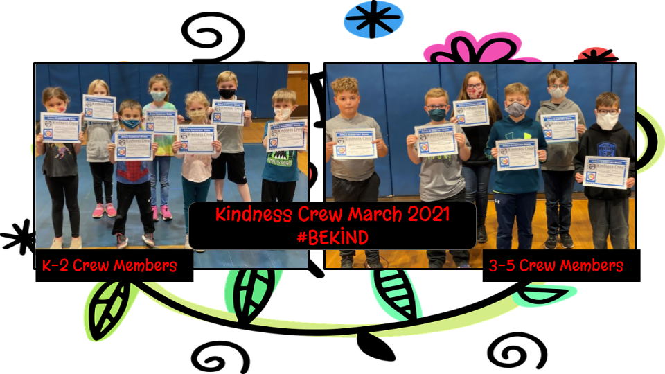 K-5 students nominated for showing kindness.