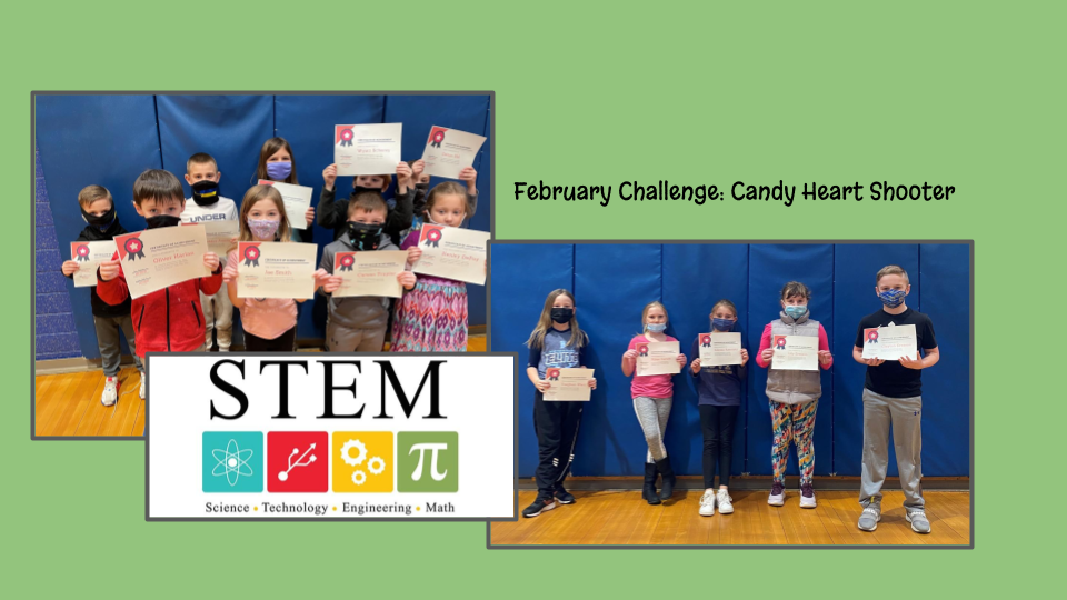 K-5 students participating in STEM.
